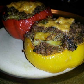 Ground beef stuffed bell pepper recipe