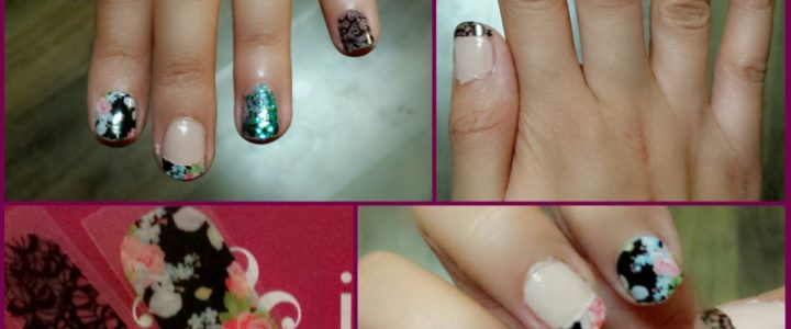 Jamberry lace and floral  nails review