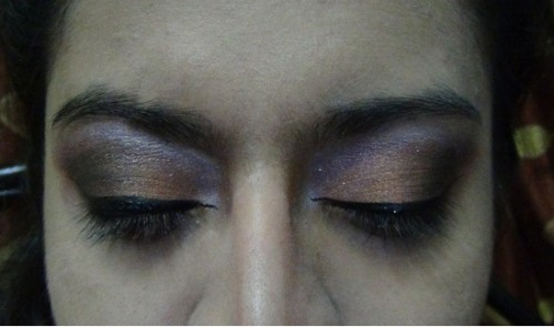 liquid eyeliner on smokey eyes
