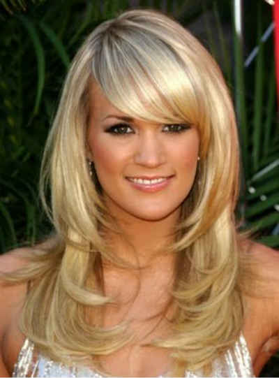 Long Layered Hairstyles Side Swept Bangs Cool
