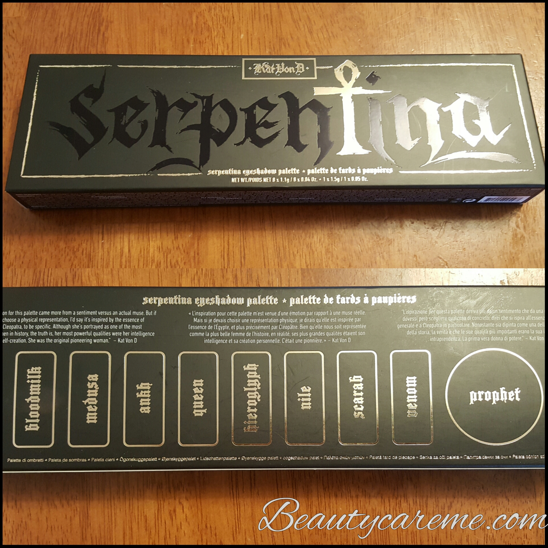 Kat Von D Serpentina eyeshadow palette review and looks
